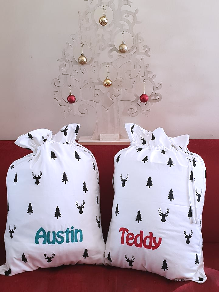 Personalised Embroidered Santa Sack
