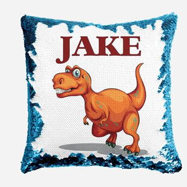 T-Rex - Personalised Cushion Cover - Mikki & Me Kids