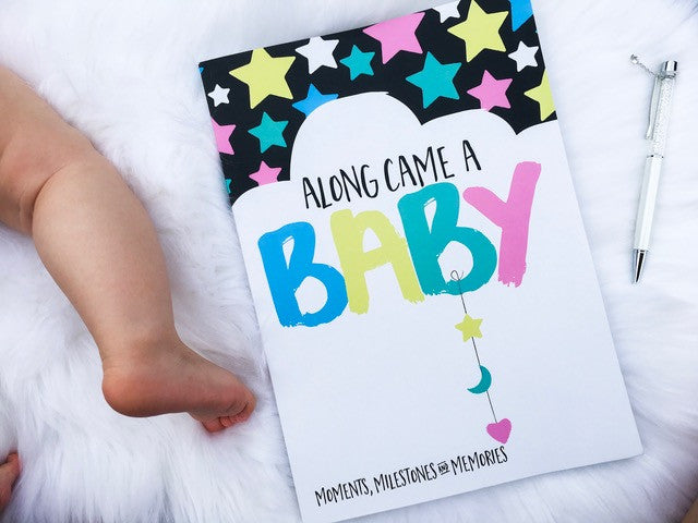 Along Came A Baby - Baby Milestone Book - Mikki & Me Kids