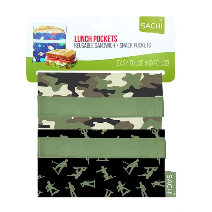 Sachi Reusable Lunch Pockets - Camo - Mikki & Me Kids