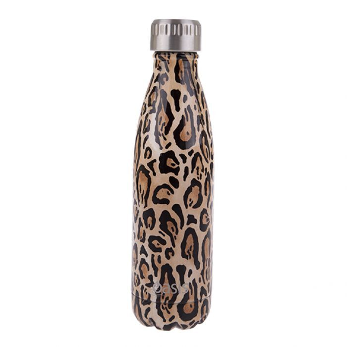 OASIS Stainless Steel Insulated Drink Bottle - Leopard Print - Mikki & Me Kids