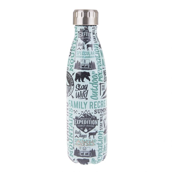OASIS Stainless Steel Insulated Drink Bottle - Wanderlust 500ml - Mikki & Me Kids