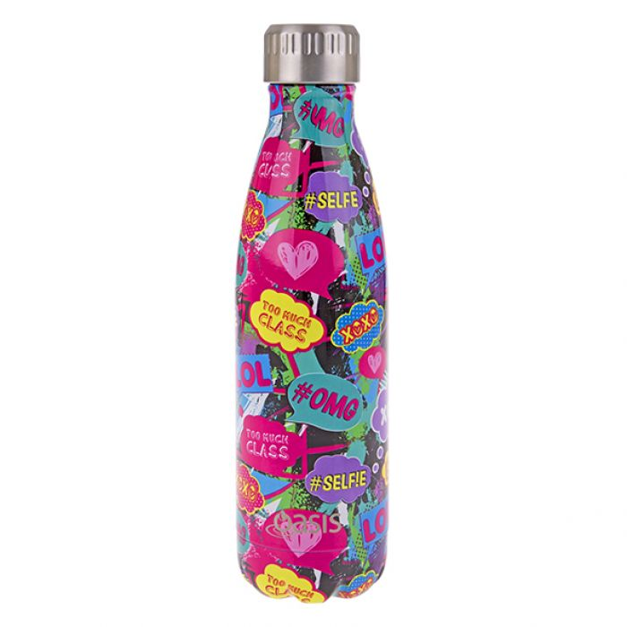 OASIS Stainless Steel Insulated Drink Bottle - Youth Culture 500ml - Mikki & Me Kids
