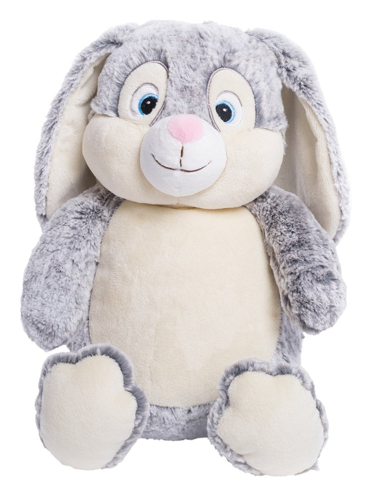 Personalised Grey Bunny Cubbie - Mikki & Me Kids