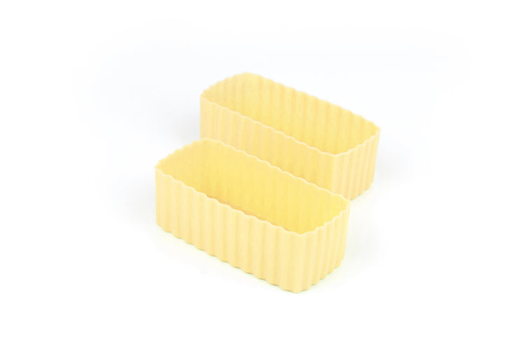BENTO CUPS RECTANGLE – YELLOW - Mikki & Me Kids