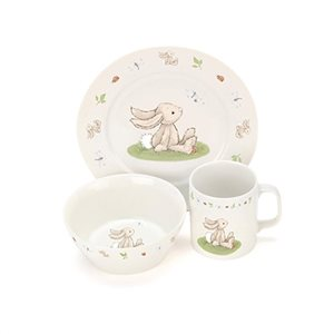 Jellycat Bashful Bunny China Dinnerset - Mikki & Me Kids
