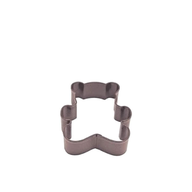 Teddy Bear Cookie Cutter 7.75cm (Brown) - Mikki & Me Kids