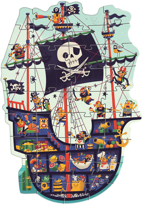 The Pirate Ship 36pc Giant Puzzle - Mikki & Me Kids