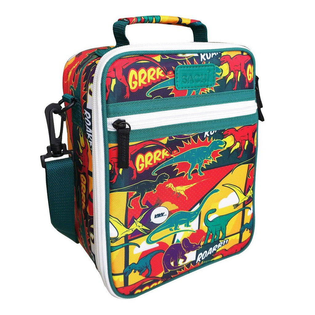 Sachi Insulated Junior Lunch Tote - Dinosaur - Mikki & Me Kids