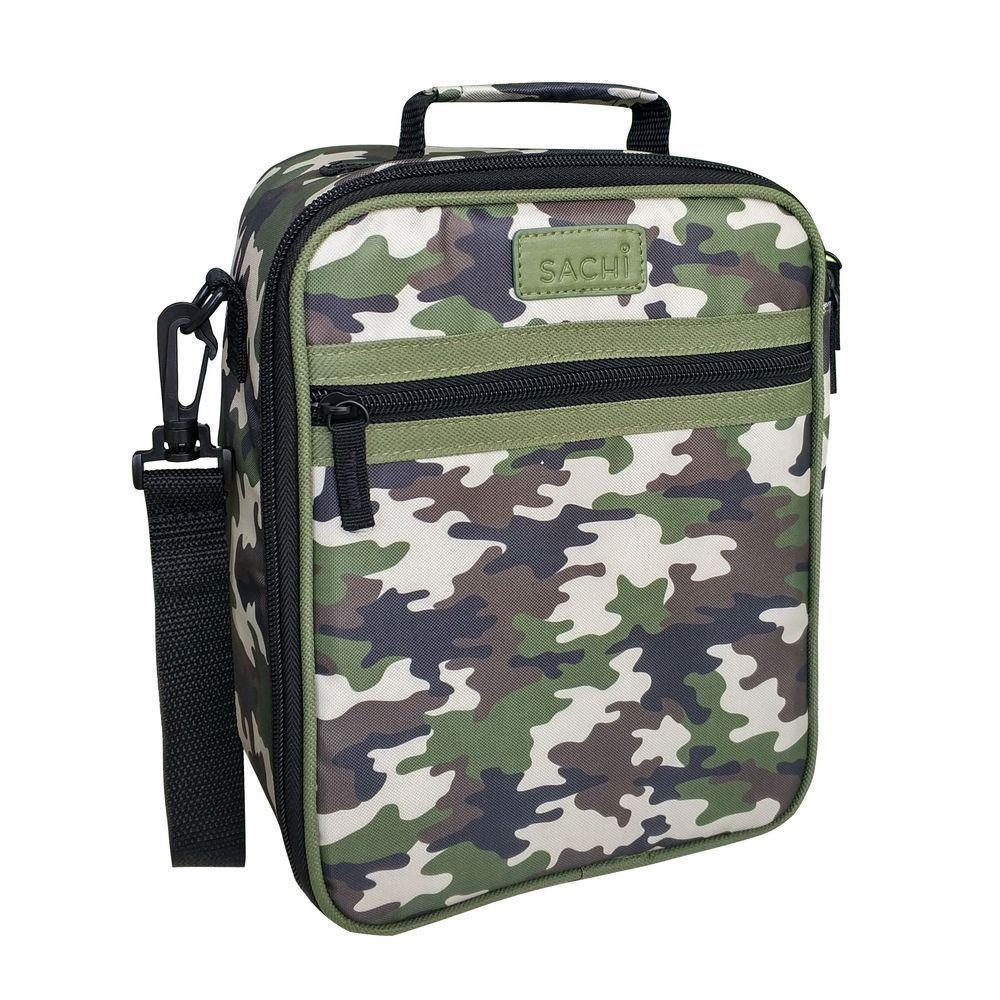 Sachi Insulated Junior Lunch Tote - Camo - Mikki & Me Kids