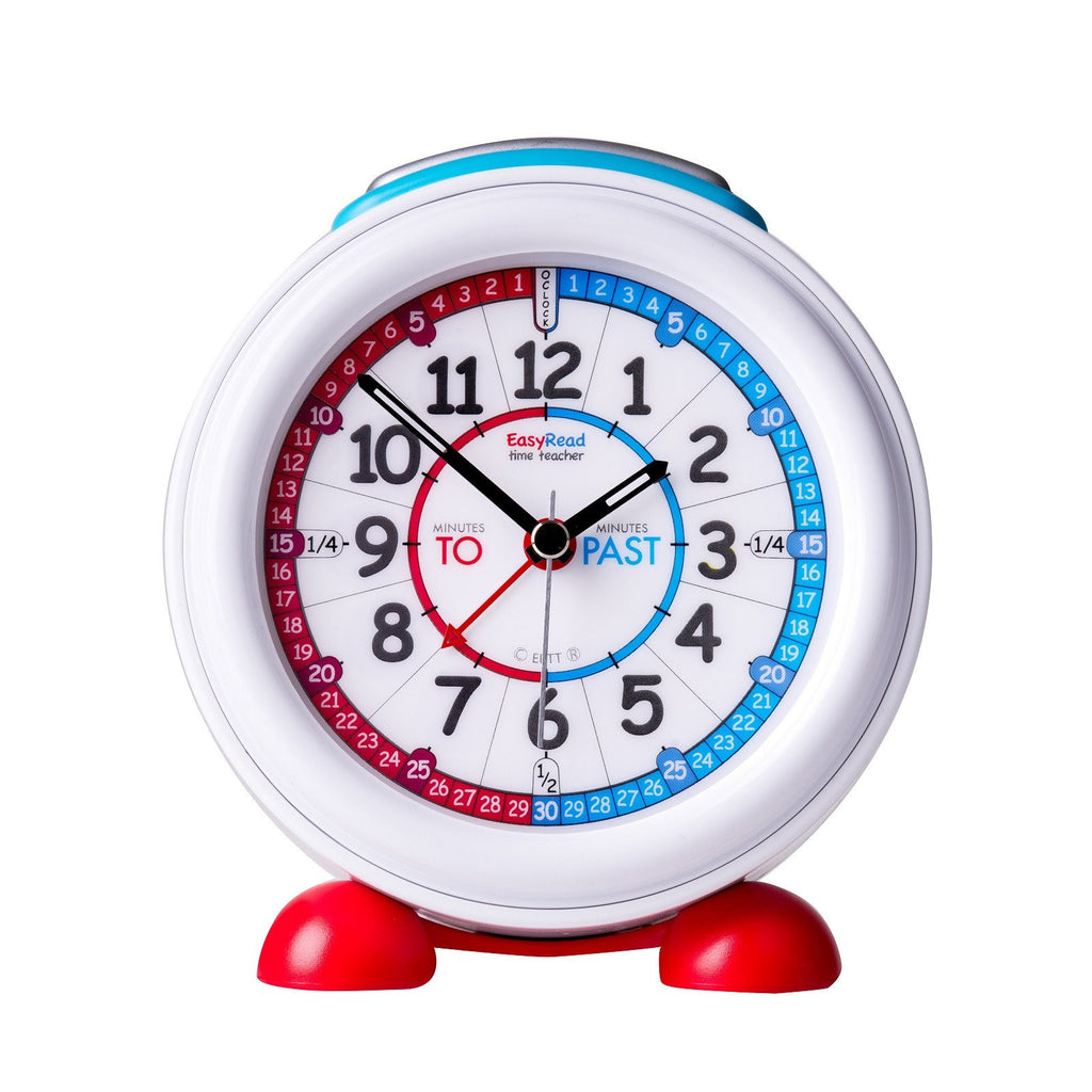 EasyRead Time Teacher Red and Blue Face Past Alarm Clock - Mikki & Me Kids