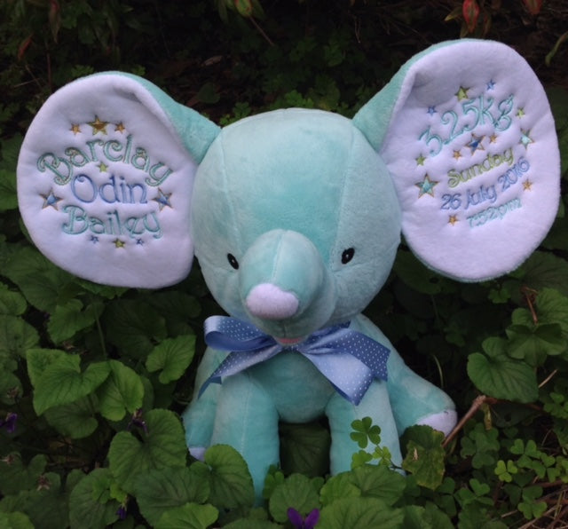 Mint Dumble Elephant Cubbie - Mikki & Me Kids