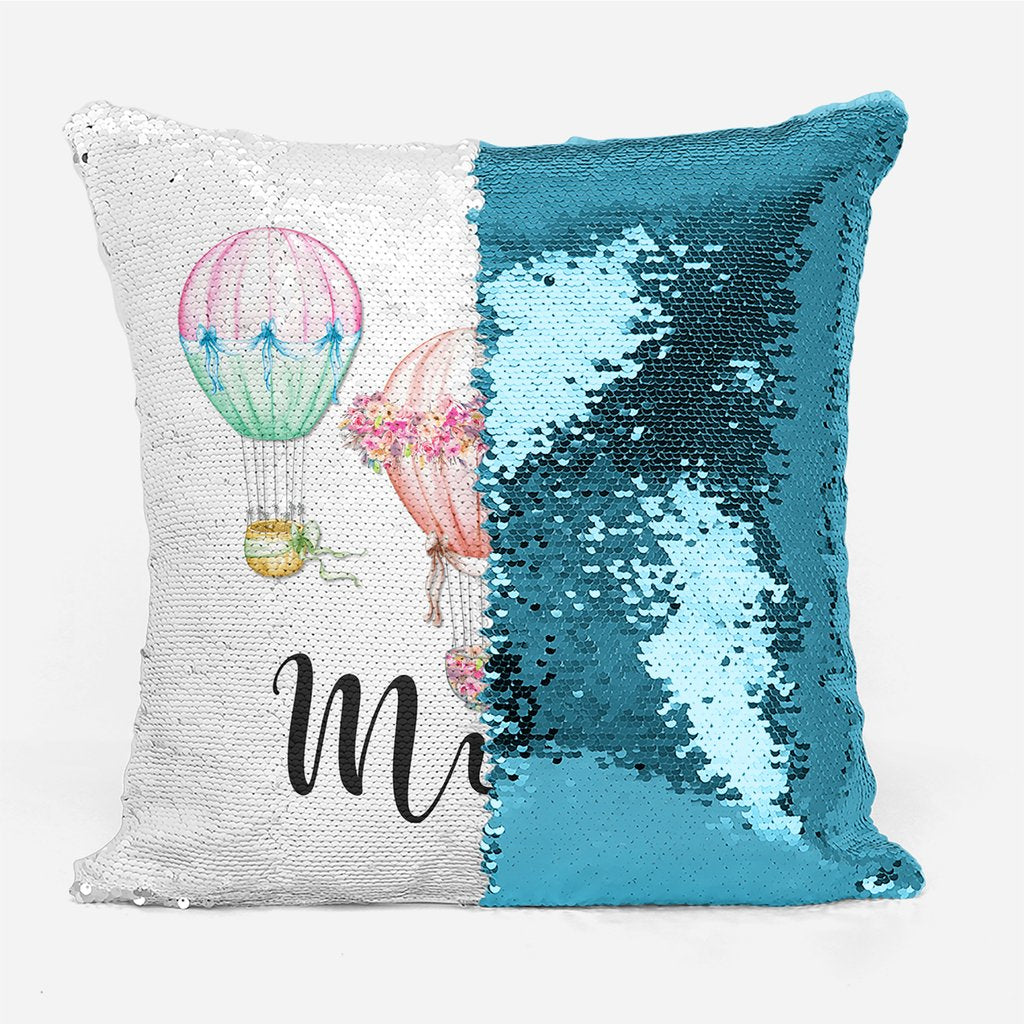 Hot Air Balloons - Personalised Cushion Cover - Mikki & Me Kids