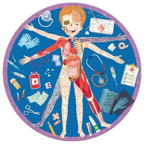 All About The Human Body - Puzzle and Book Set 205pc - Mikki & Me Kids