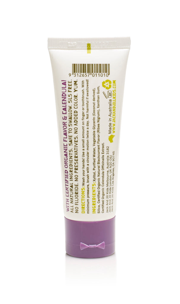 Jack & Jill Natural Toothpaste - Blackcurrant - Mikki & Me Kids