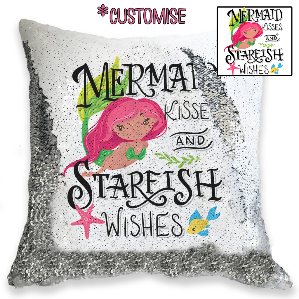 Mermaid Kisses - Personalised Cushion Cover