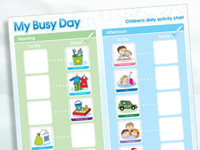 My Busy Day Children's Activity Chart - Mikki & Me Kids