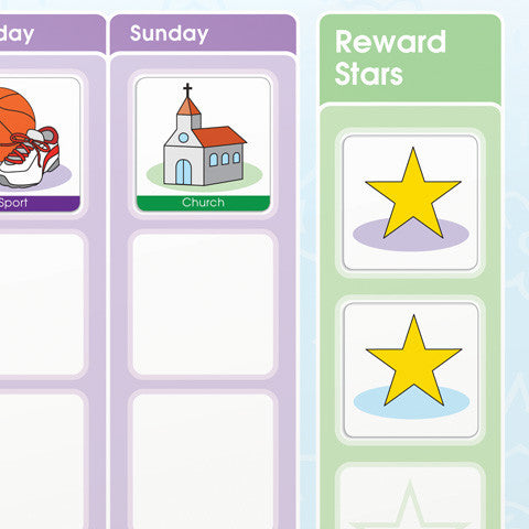My Busy School Week  Children's Activity Chart - Mikki & Me Kids