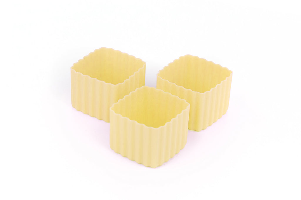 BENTO CUPS SQUARE – Yellow - Mikki & Me Kids