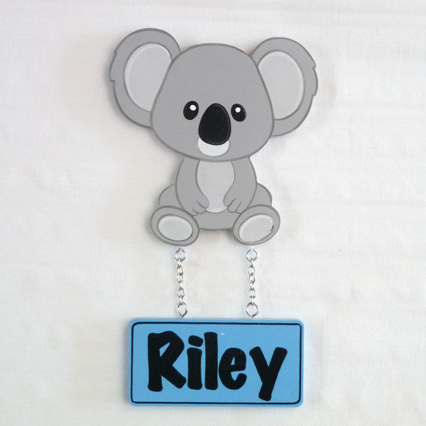 Kids Door Plaque - Koala Boy - Mikki & Me Kids