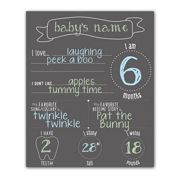 Pearhead All About Baby Photo Prop Chalkboard - Mikki & Me Kids