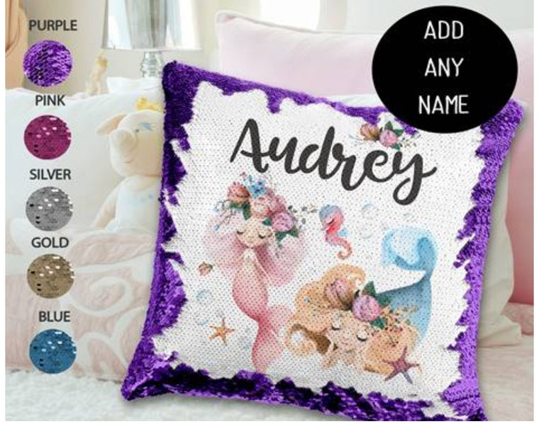 Mermaid friends - Personalised Cushion Cover