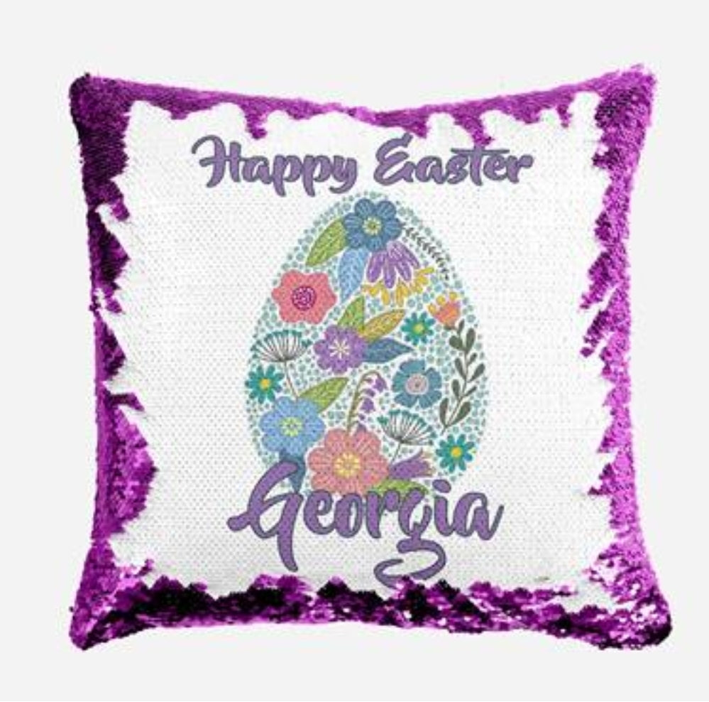 Floral Boho Egg - Personalised Cushion Cover - Mikki & Me Kids