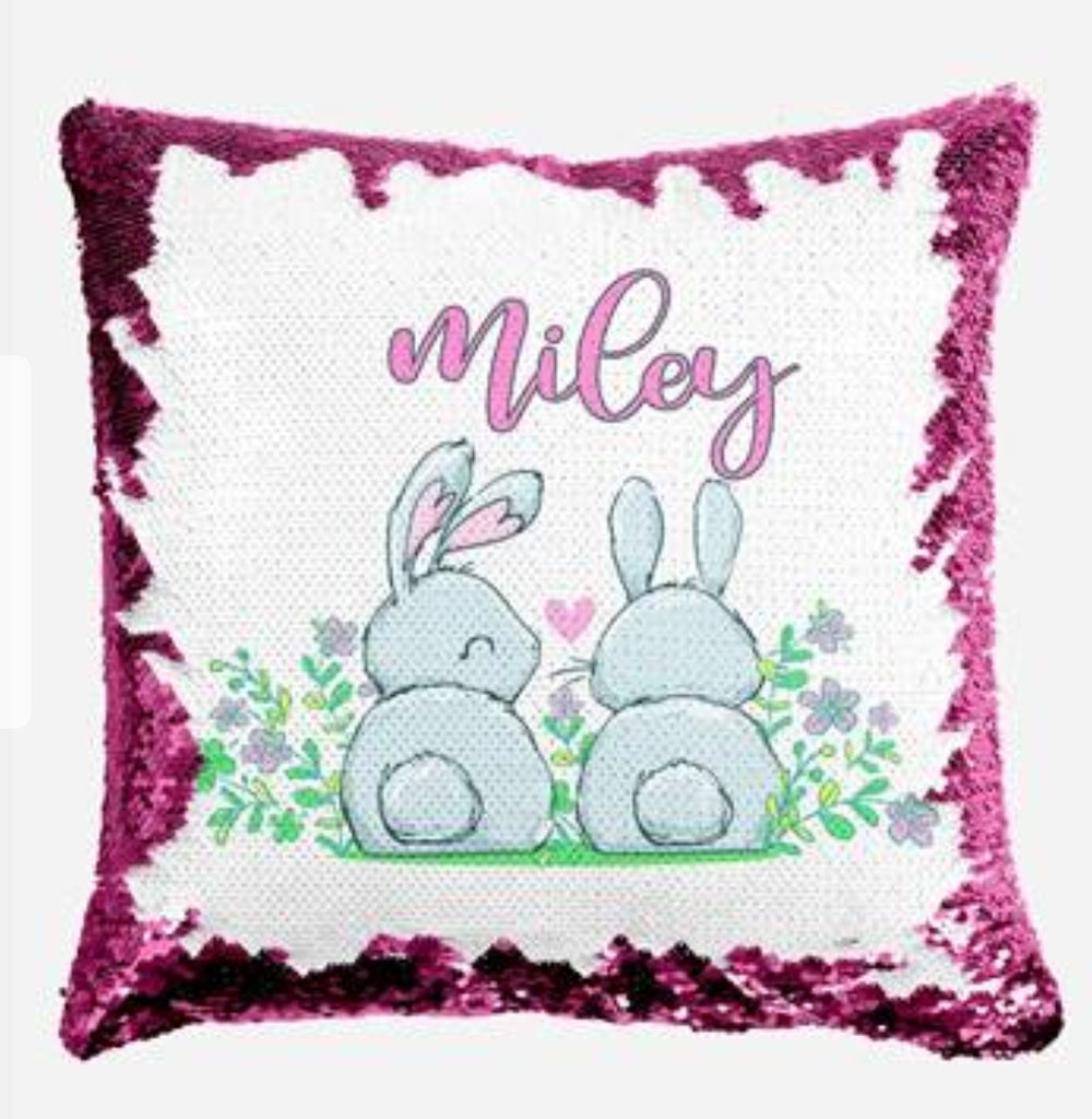 Bunny Mates - Personalised Cushion Cover - Mikki & Me Kids