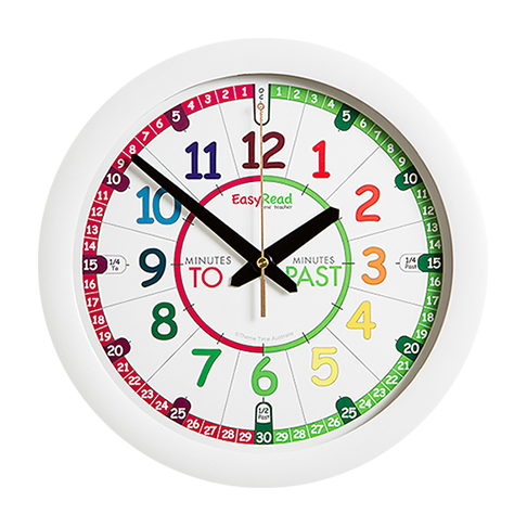 EasyRead Time Teacher Rainbow Face Past & To Wall Clock - Mikki & Me Kids