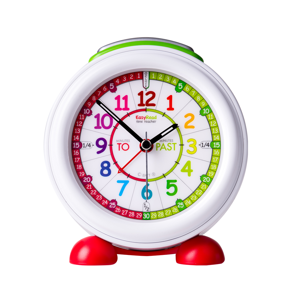 EasyRead Time Teacher Rainbow Face Past Alarm Clock - Mikki & Me Kids