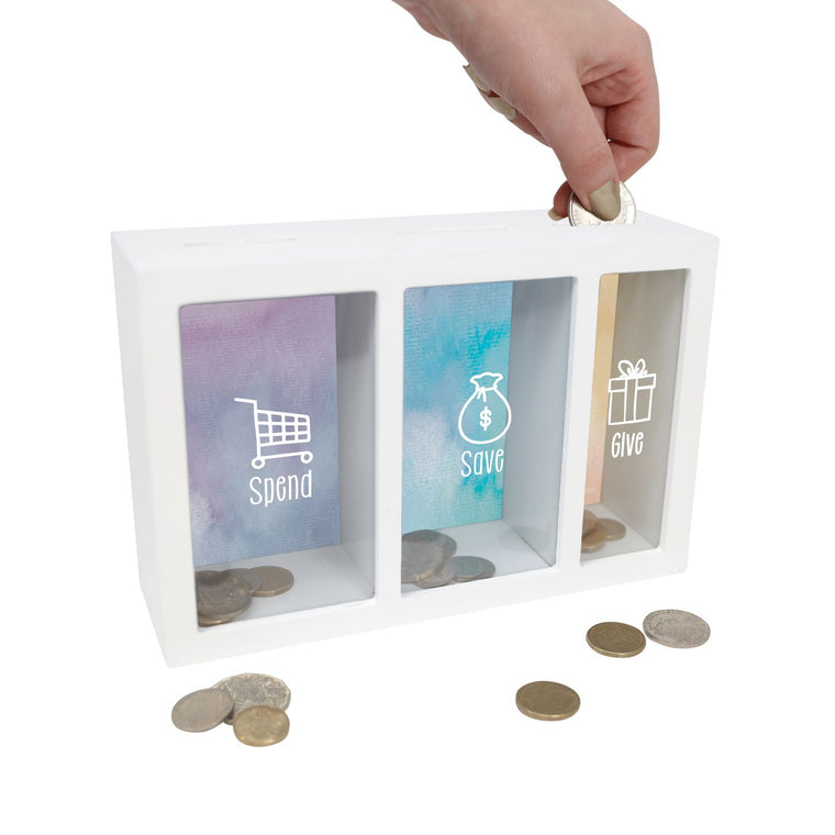 Spend, Save, Give Money Box