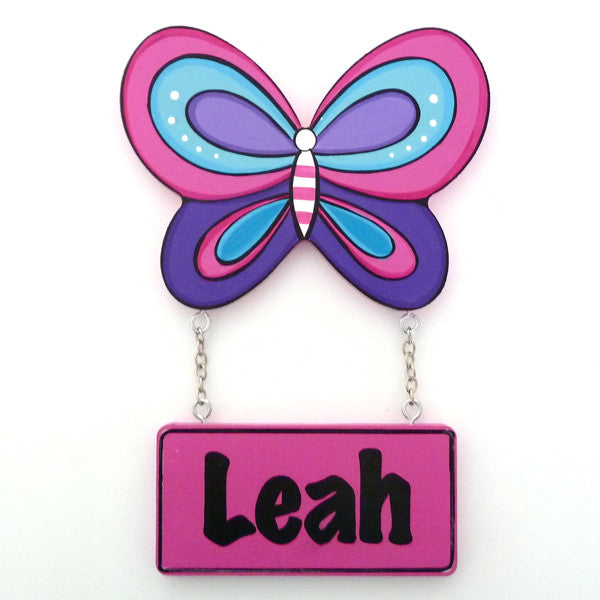 Kids Door Plaque - Butterfly 2 - Mikki & Me Kids