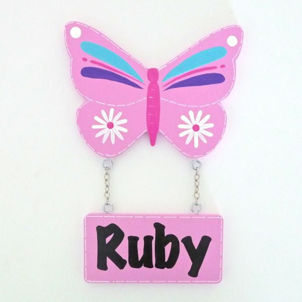 Kids Door Plaque - Butterfly - Mikki & Me Kids
