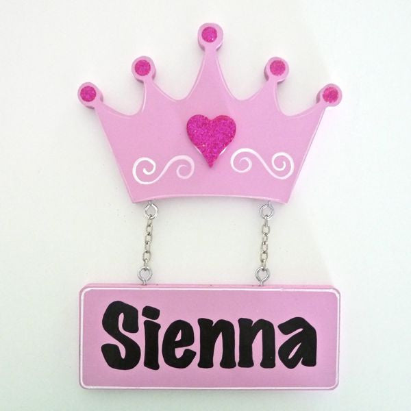 Kids Door Plaque - Crown - Mikki & Me Kids