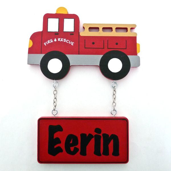 Kids Door Plaque - Fire Truck - Mikki & Me Kids