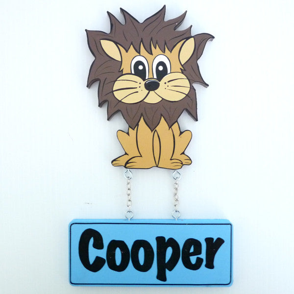 Kids Door Plaque - Lion - Mikki & Me Kids