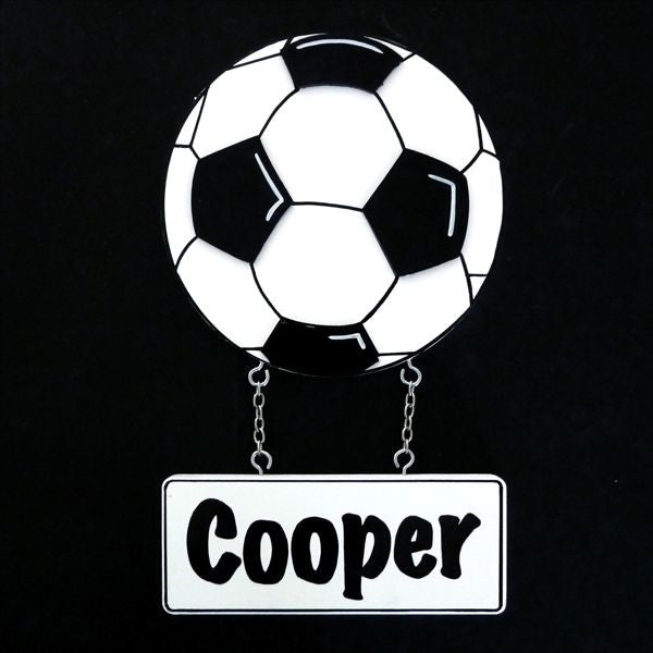Kids Door Plaque - Soccer ball - Mikki & Me Kids