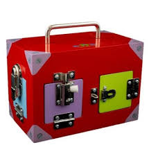 Small Coloured Lock Activity Box