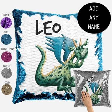 Dragon - Personalised Cushion Cover - Mikki & Me Kids