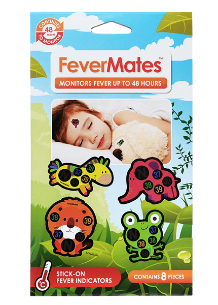 Fevermates Stick-On Thermometer + Fever Indicator