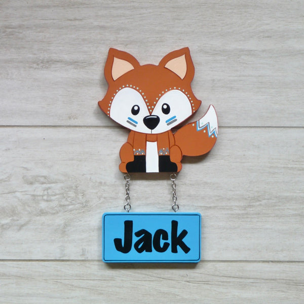 Kids Door Plaque - Fox - Mikki & Me Kids