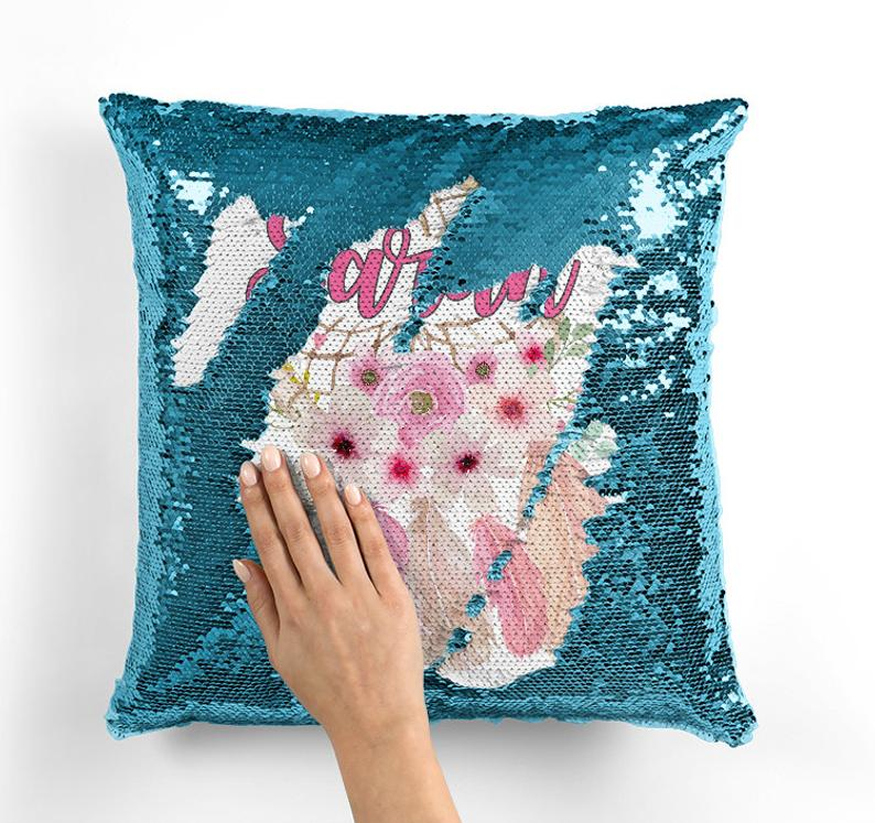 Vintage Floral Dreamcatcher - Personalised Cushion Cover - Mikki & Me Kids