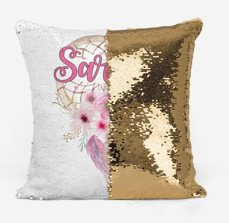 Vintage Floral Dreamcatcher - Personalised Cushion Cover