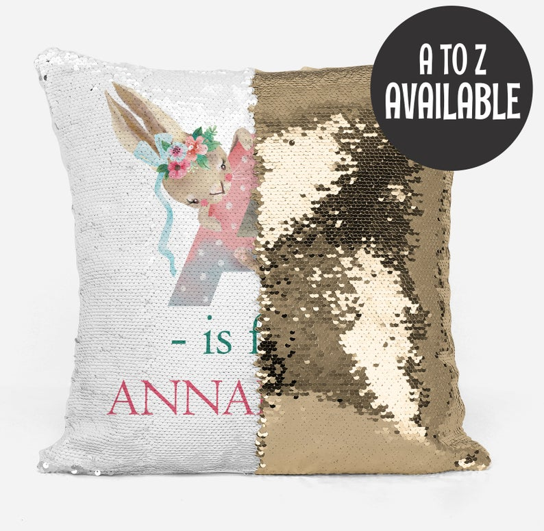 Alphabet A is for... Pink - Personalised Cushion Cover - Mikki & Me Kids