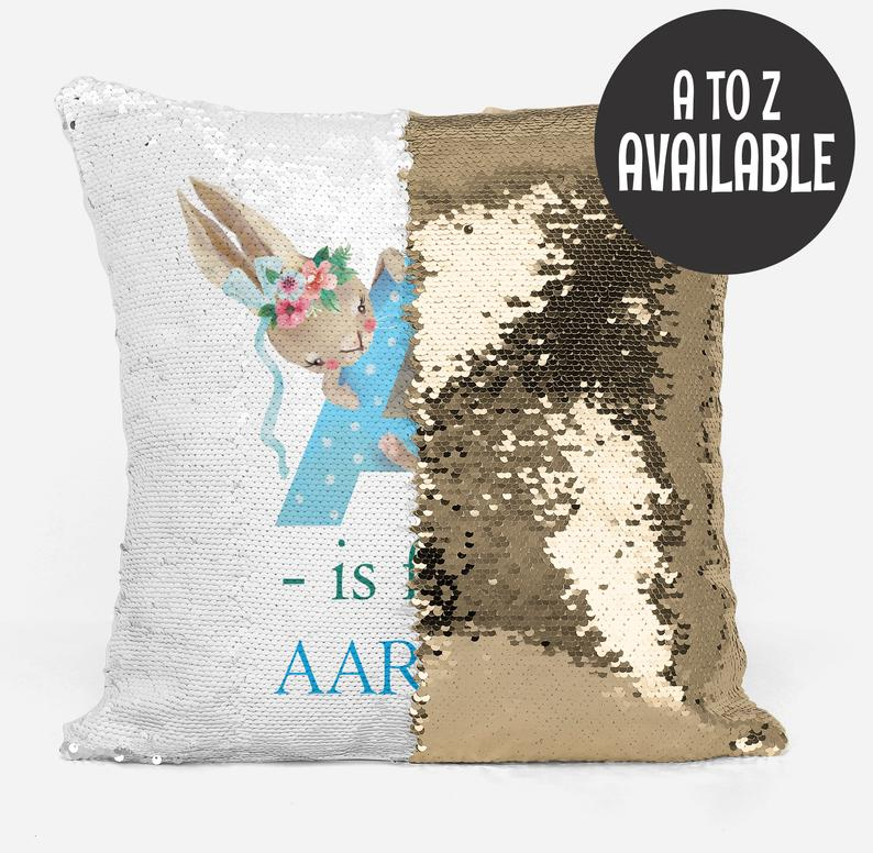 Alphabet A is for... Blue - Personalised Cushion Cover - Mikki & Me Kids