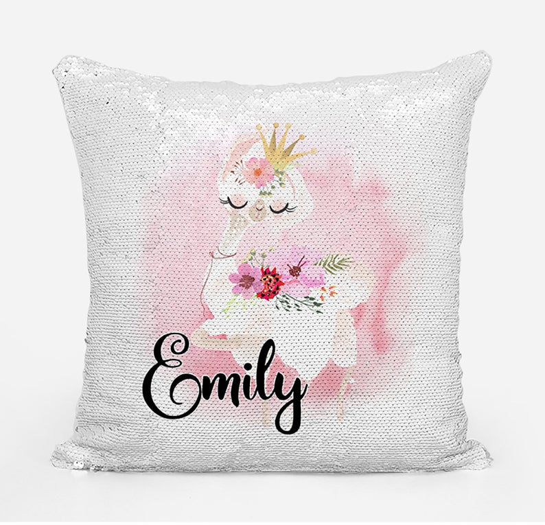 Llama wearing Crown - Personalised Cushion Cover