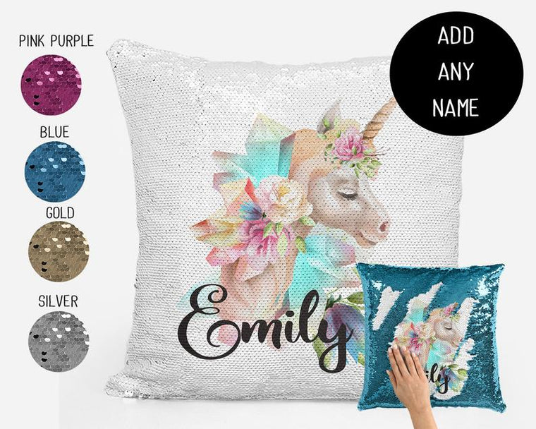 Unicorn side profile - Personalised Cushion Cover