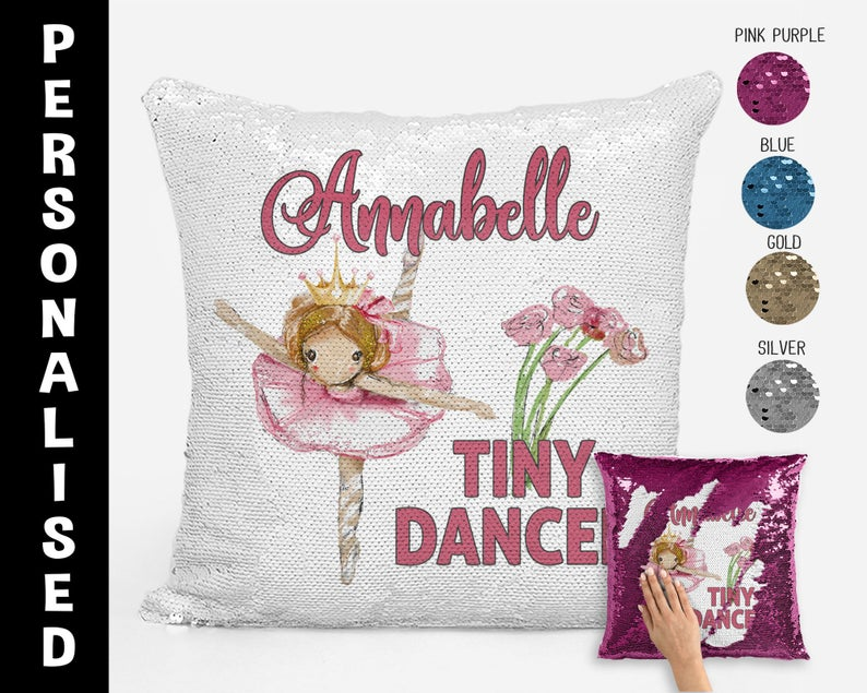 Tiny Dancer (Flowers) - Personalised Cushion Cover - Mikki & Me Kids