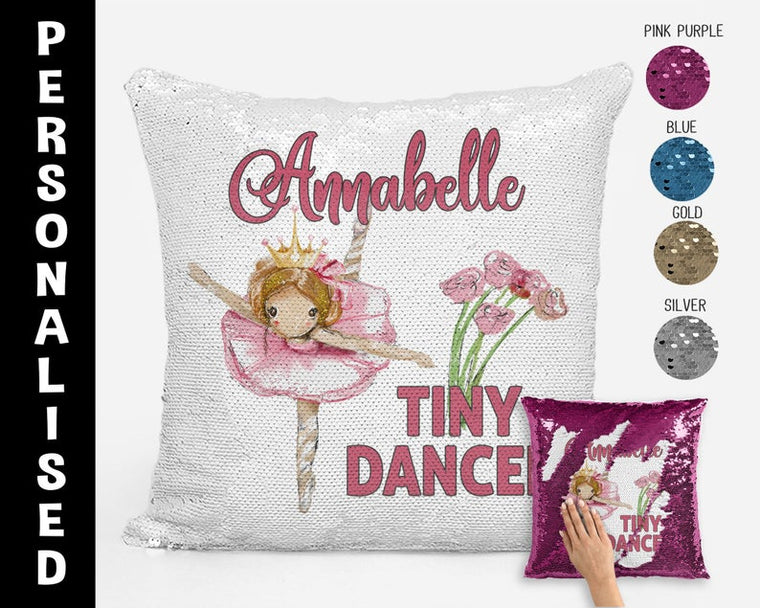Tiny Dancer (Flowers) - Personalised Cushion Cover