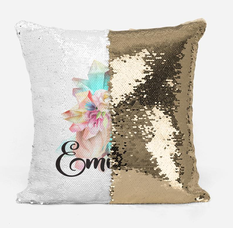 Unicorn side profile - Personalised Cushion Cover - Mikki & Me Kids
